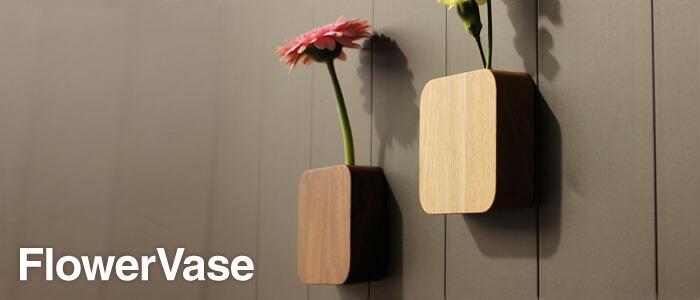 マグネットで貼り付けられる、壁掛け・卓上両用のフラワーベース・一輪挿し。