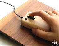 北欧風デザインのかわいい木製マウス