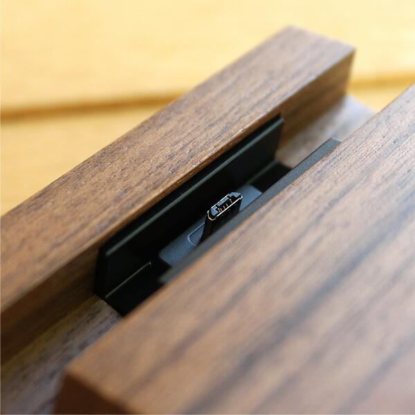 高級木材ウォールナットを使用