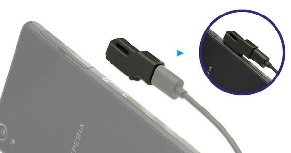 端子カバーを開けずにXperia™シリーズを充電