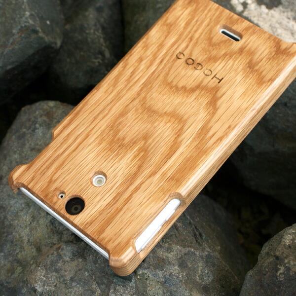 木製スマートフォン Xperia AX用 オーク