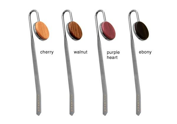 5種類の木を用いた木製ブックマーク・栞