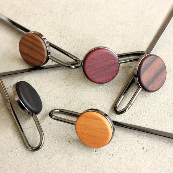5種類の銘木と金属を組み合わせたブックマーク・しおり