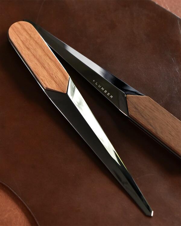 銘木をプラスした刀のようなレターオープナー