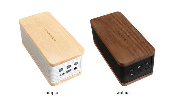 メープルとウォールナットを使用したインテリア性の高いBluetooth モバイルスピーカー