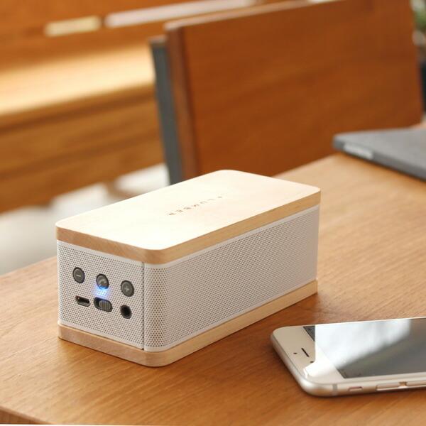 Bluetooth機能でどこでも楽しめる木製ポータブルスピーカー
