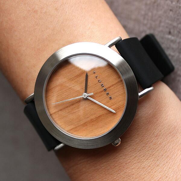 扱いやすいシリコンベルトの木製腕時計「WATCH 3300」