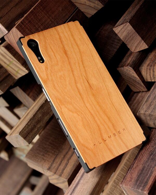 丈夫なハードケースと天然木を融合したXperia XZ専用木製ケース