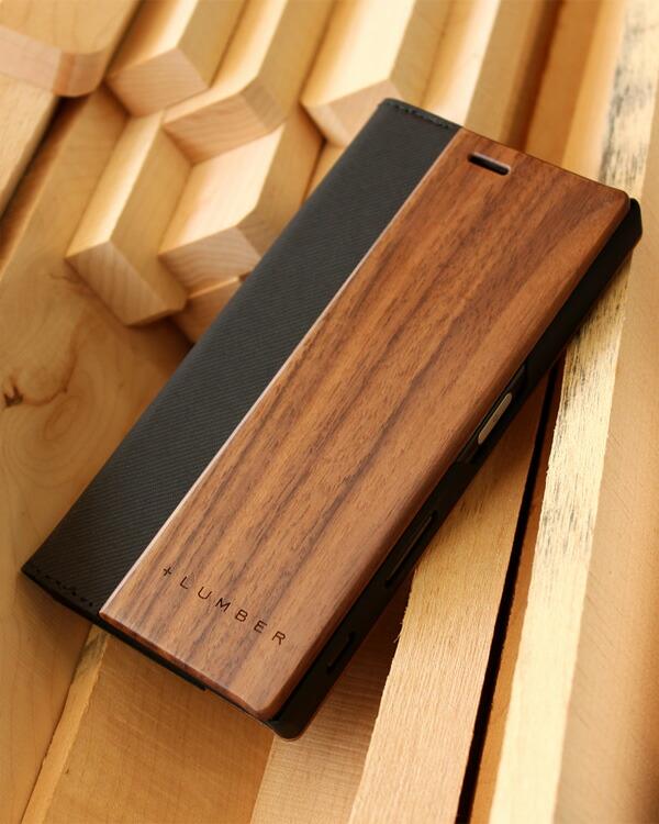手帳型の木製スマートフォンケース Xperia™ XZ専用