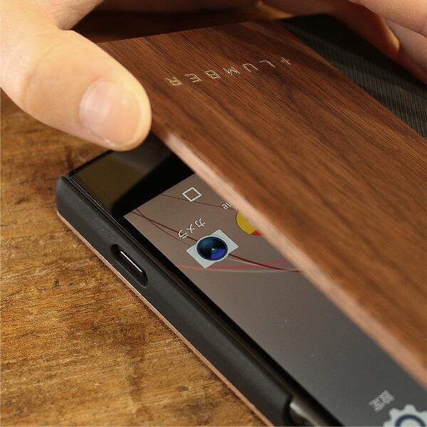 手触り良い塗装を施した木製エクスペリアXZ Premiumケース