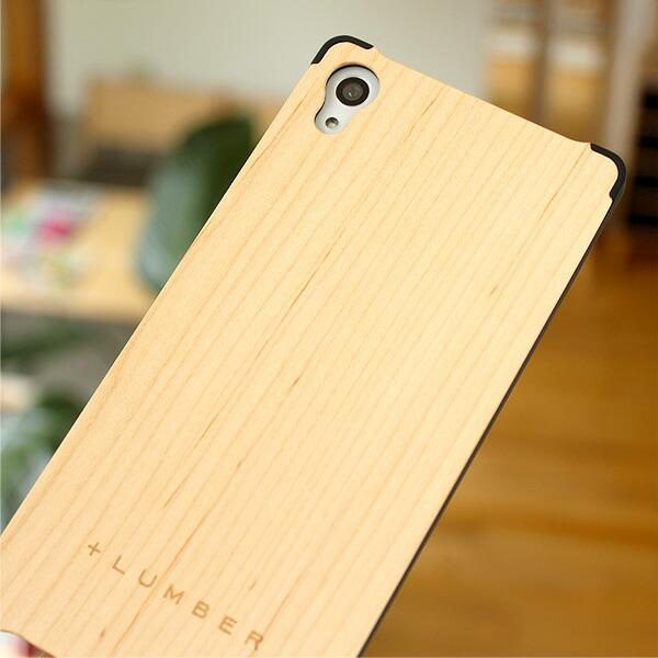 手触り良い塗装を施した木製エクスペリアZ4ケースは適度なグリップ感