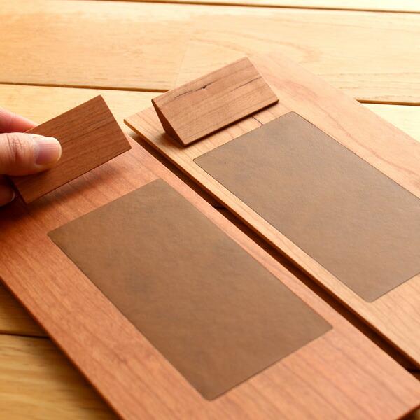 �利��左利��対応�る木製クリップボード