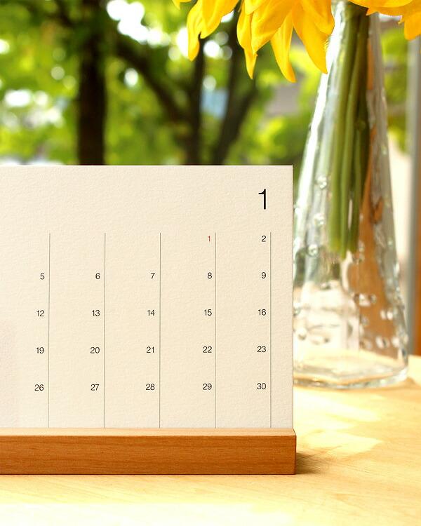 シンプルな卓上カレンダー Desk Calendar