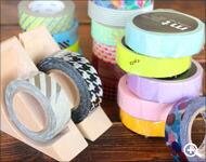 Hacoaブランドの木製テープカッター