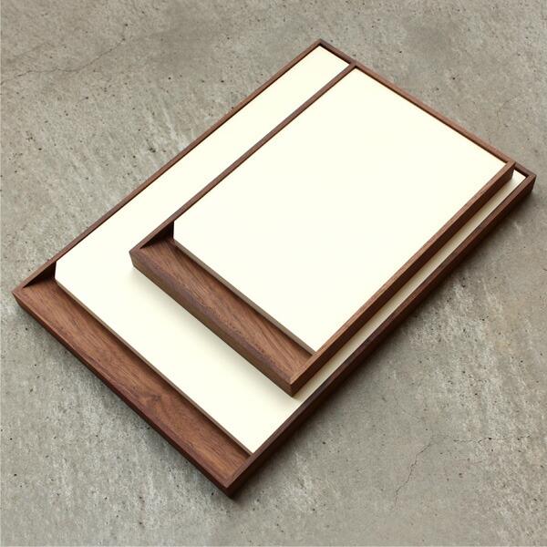 A5サイズとA4サイズのMDペーパーを収納可能な木製メモトレイ