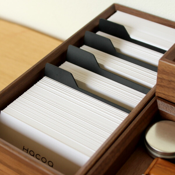 散らばりがちな名刺を美しくひとまとめに整理・整頓できる名刺ボックス