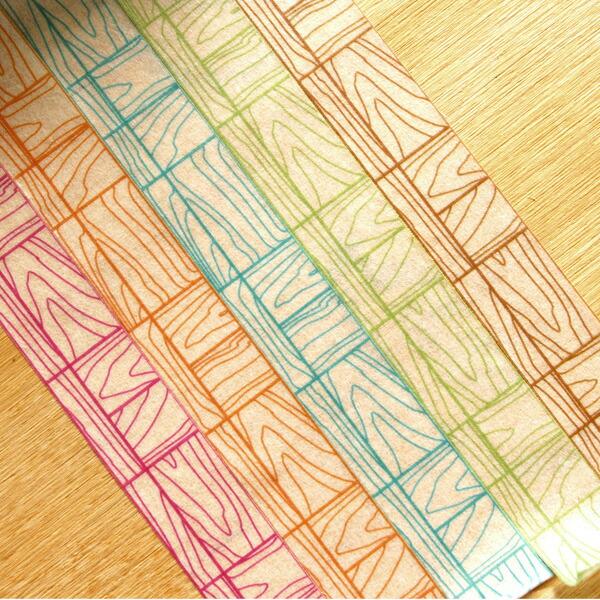 木目タイルのマスキングテープ