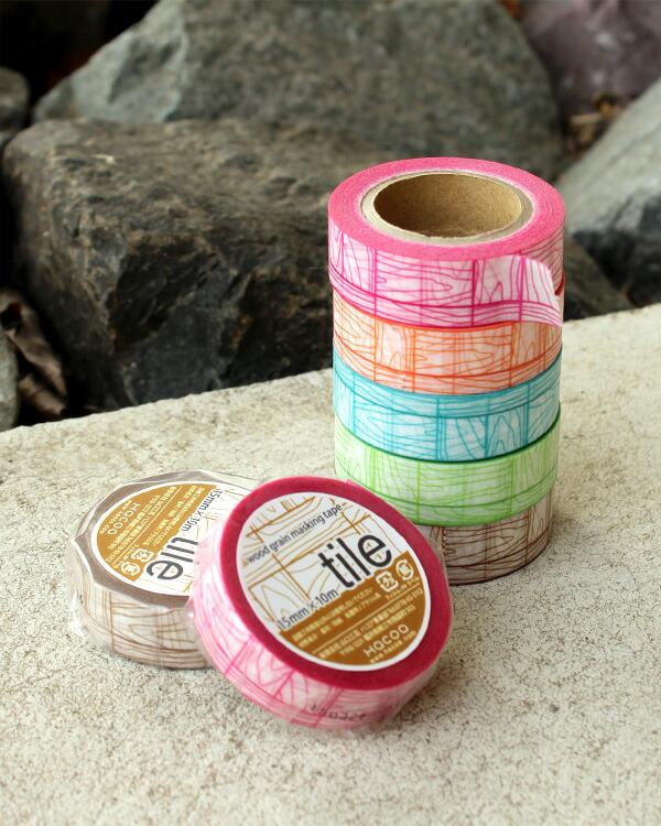 【当店オリジナル商品】木目がつながるマスキングテープ「tile」