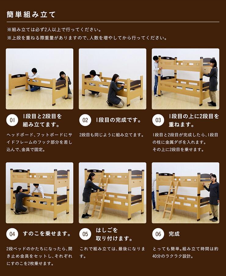 楽天市場】【割引クーポン配布中】宮付き 2段ベッド parfait3(パルフェ