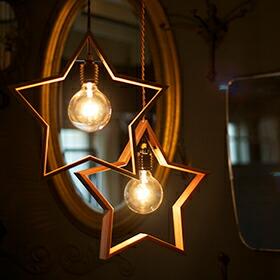 DOM(星型ウッドペンダントライト1灯)