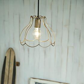 TURIP(スチール&真鍮ペンダントライト1灯)