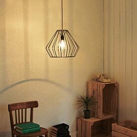 KNOB(スチール&真鍮ペンダントライト1灯)