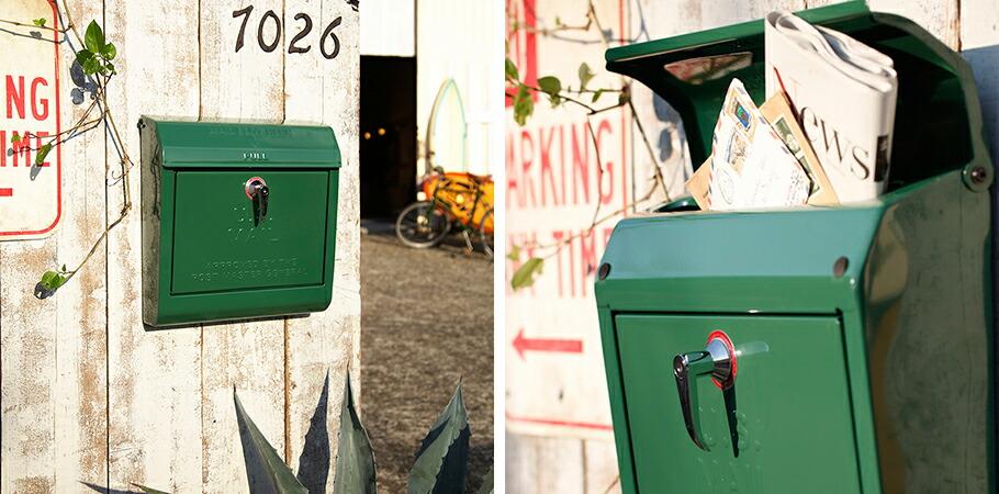 ARTWORKSTUDIO:U.S. Mail box 文字あり(ユーエスメールボックス:横型・キーロック)