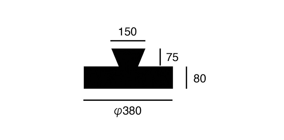 グローLEDシーリングランプののサイズ