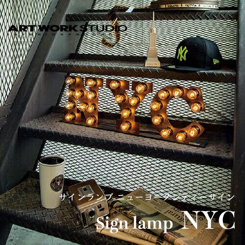 ARTWORKSTUDIO Sign lamp NYC(サインランプ ニューヨークシティーサイン)