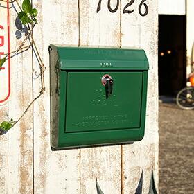 U.S. Mail box 文字あり(メールボックス:、横型・キーロック)
