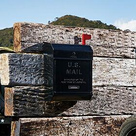 U.S. Mail box2 文字あり(メールボックス:、縦型・キーレス)