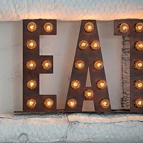 Sign lamp EAT(サインランプ イートサイン)