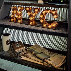 Sign lamp NYC(サインランプ ニューヨークシティーサイン)