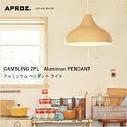 GAMBLING 2PL(アルミ製ペンダントライト2灯)
