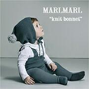 MARLMARL コットン素材のボンネ型ニット帽 knit bonnet