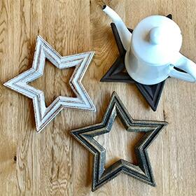 CAST IRON STAR TRIVET(キャストアイアン・スタートリベット):星型アイアン鍋敷き