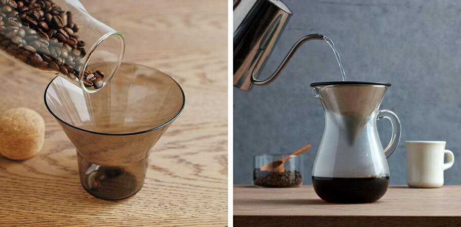 KINTO キントー:コーヒーカラフェセット(ステンレス)600ml