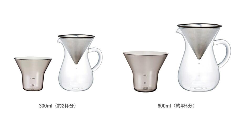 コーヒーカラフェセット(ステンレス)は大きさをお選びいただけます