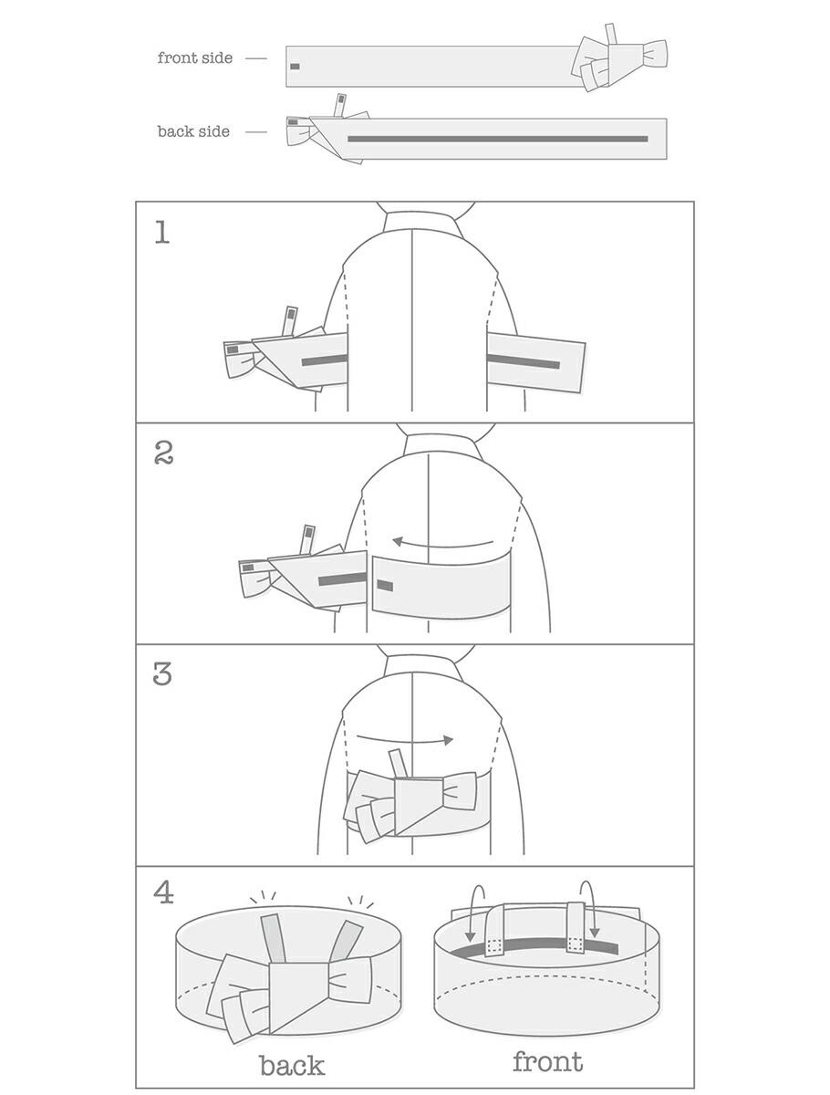 yukataの帯の使い方