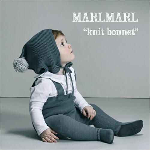 MARLMARL ボンネ型ニット帽 knit bonnet
