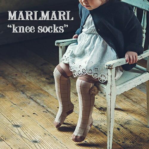 MARLMARL ニーハイソックス knee socks(モチーフNo.3、4)(リニューアル)