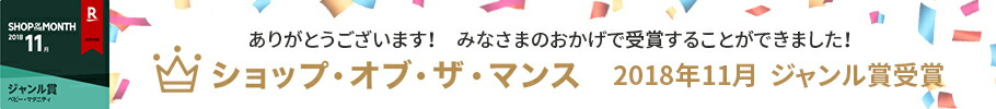 ショップ・オブ・ザ・マンス 2018年11月 ジャンル賞受賞!