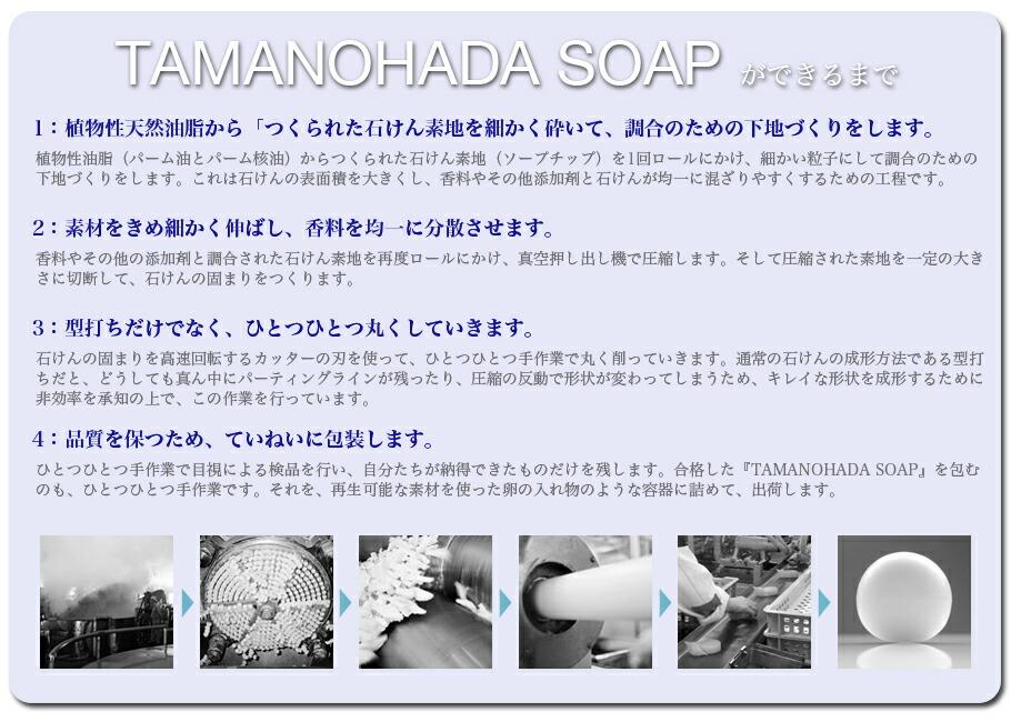 TAMANOHADA SOAPができるまで