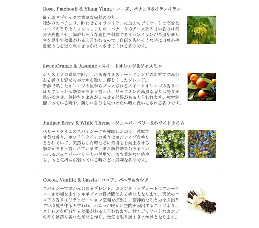 メディシンボトルディフュージョンスティックの8種類の香り