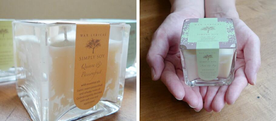 Wax Lyrical / SIMPLY SOY(ワックスリリカル シンプリーソイコレクション) グラス入りアロマキャンドル