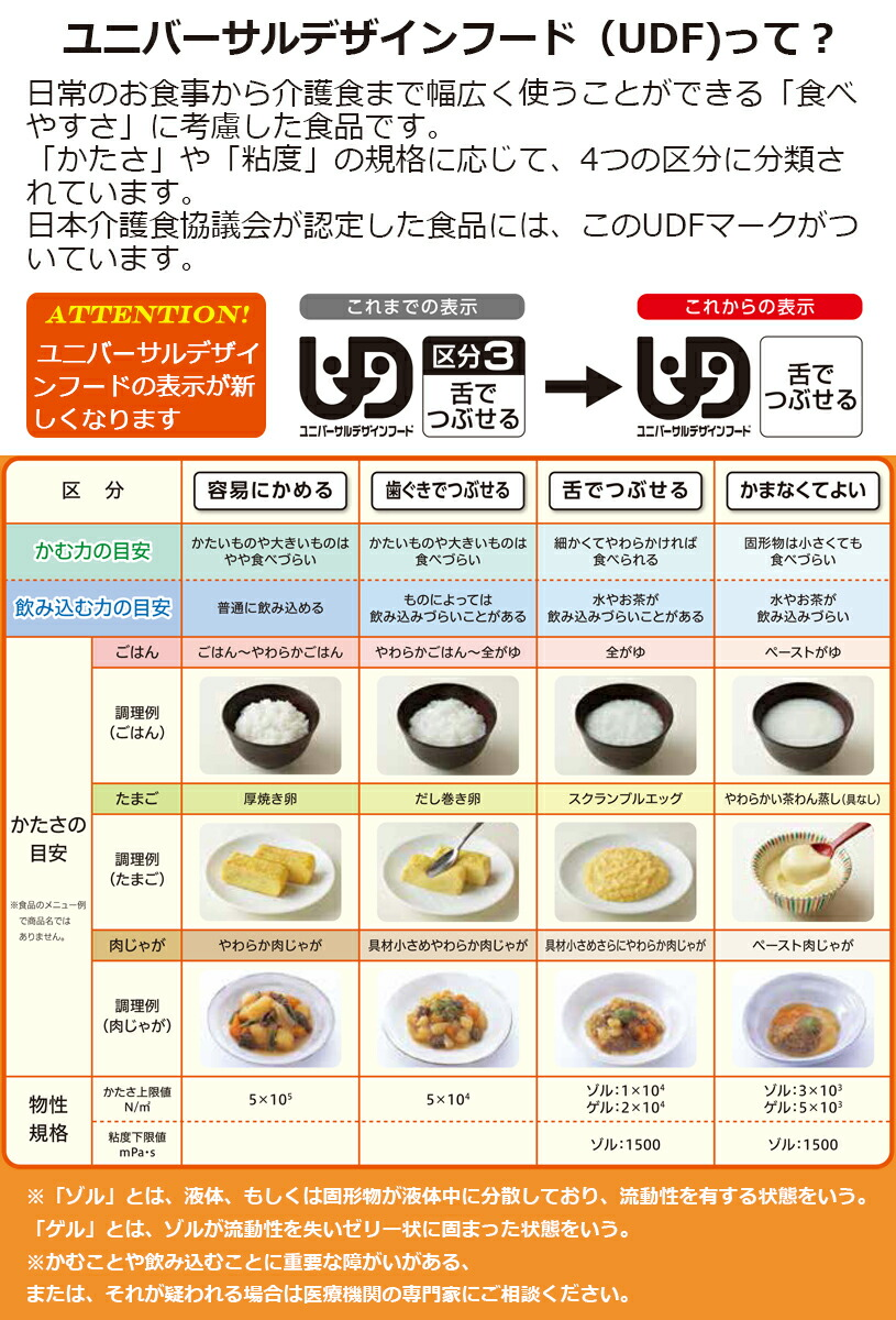 介護食品 区分