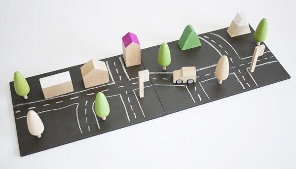 【送料無料】kiko+ machi (まち、町、街、マチ)木のおもちゃ(知育玩具) 【子供 誕生日プレゼント 1歳 2歳 3歳 4歳 女 男】