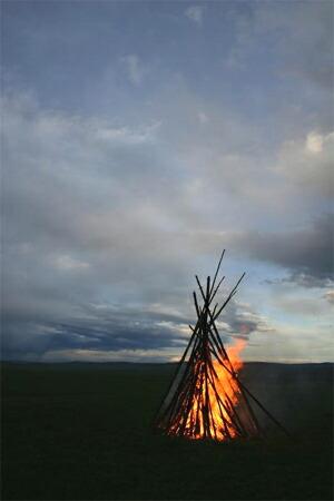 モンゴルの落陽