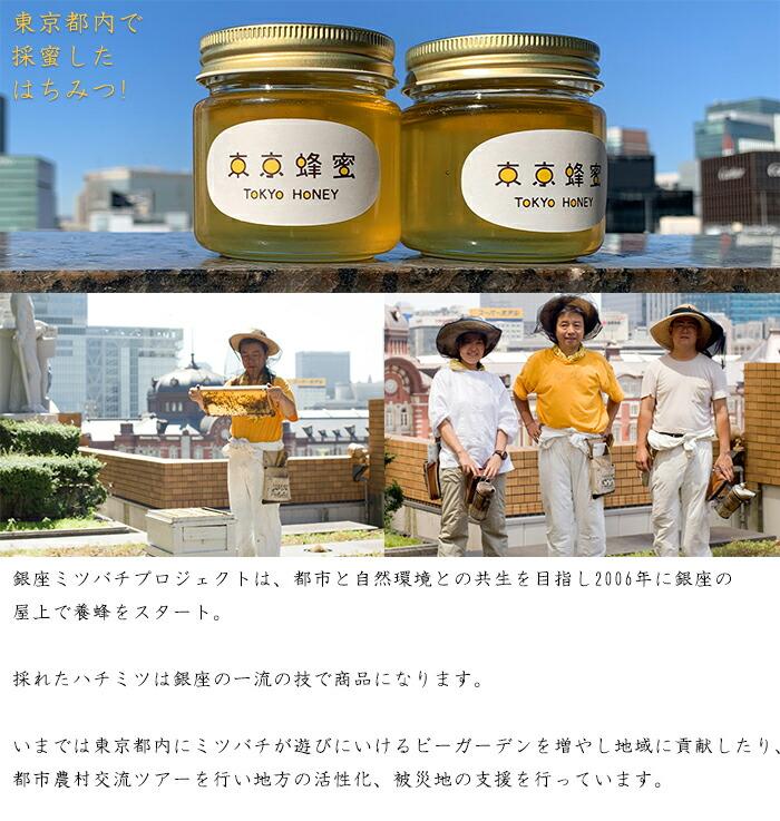 銀座ミツバチプロジェクトが育成、東京の空で育まれた蜂蜜!!