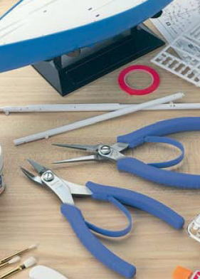 3  peaks long stainless steel plastic cutting pliers 165 mm (with プラスチックバネ)  LS-02